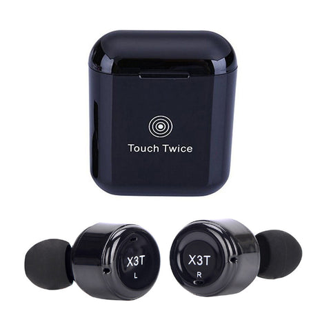 X3T Mini Invisible Twins True Wireless Bluetooth Headset CSR 4.2 HIFI Stereo Cordless Bluetooth Earphones Mic with Charging Case
