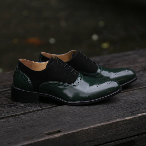 Masorini Pointed Toe Men Dress Shoes Handmade Dress Leather Oxfords Formal Shoes For Male 2019 Spring 47 48 BRM-080