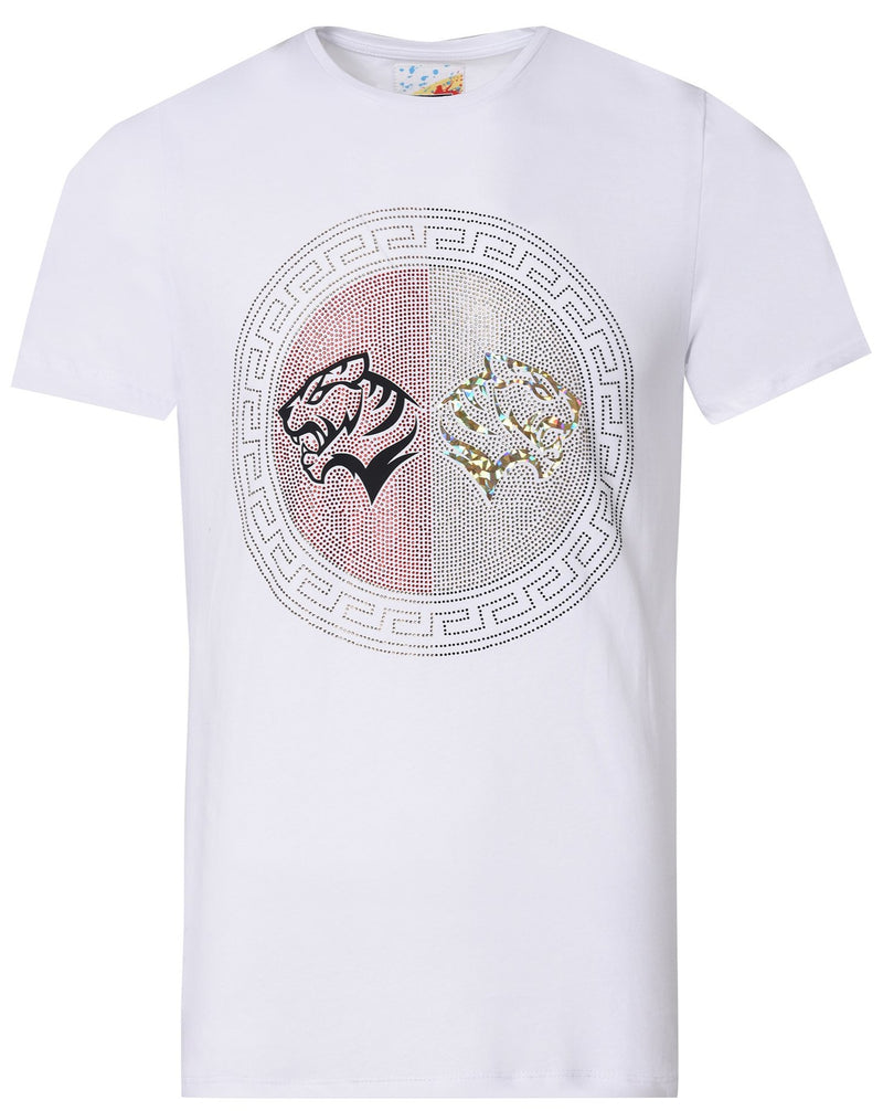 Suslo Couture White Lion | Printed T-Shirt