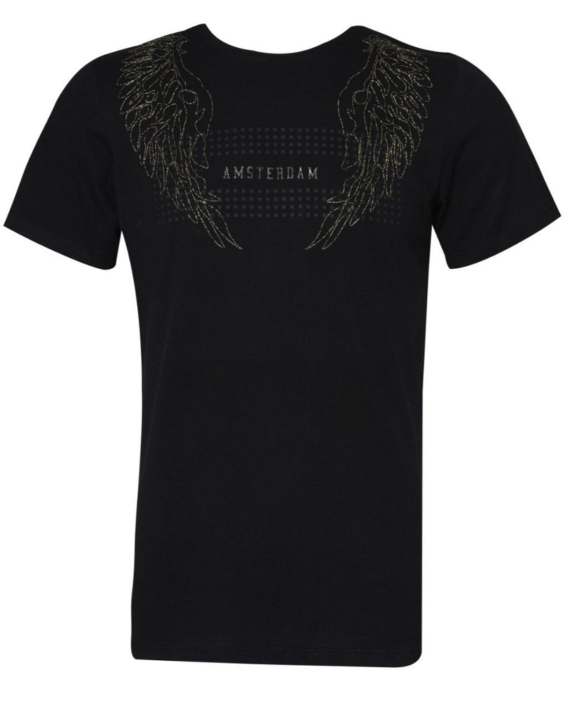 Suslo Couture Amsterdam Black | Printed T-Shirt