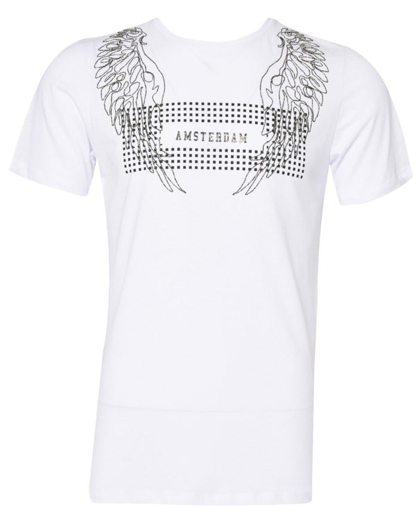 Suslo Couture Amsterdam White  | Printed T-Shirt