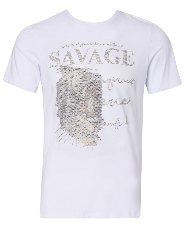 Suslo Couture Savage White  | Printed T-Shirt