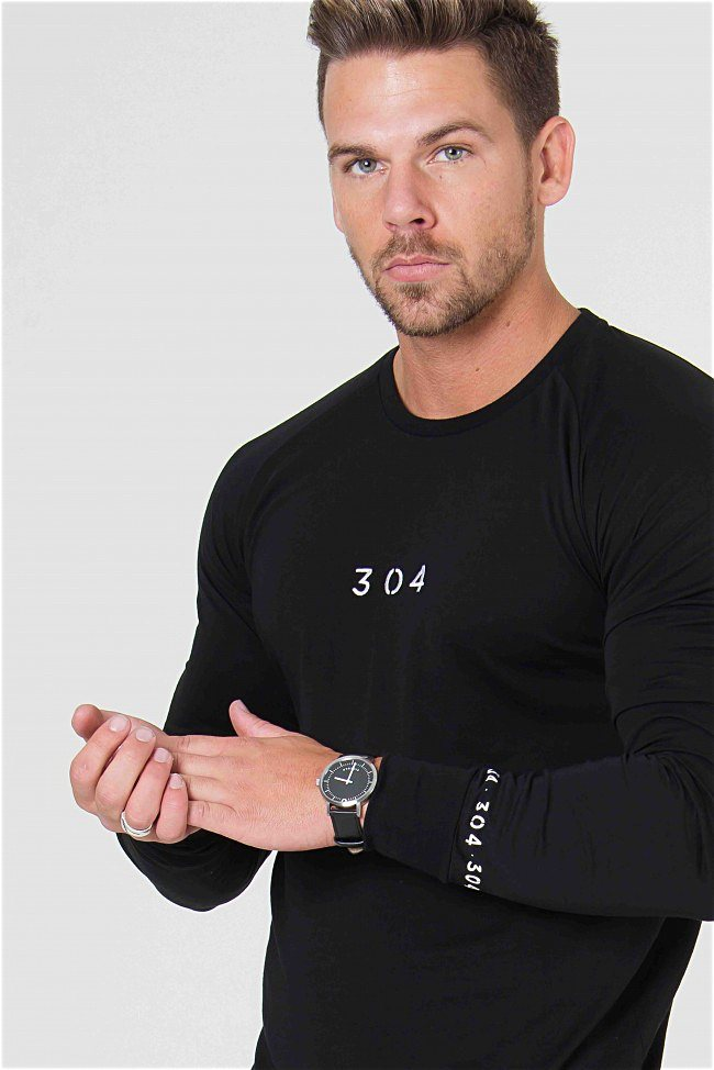 304 Clothing Venice Long Sleeve Tee - Black - 2