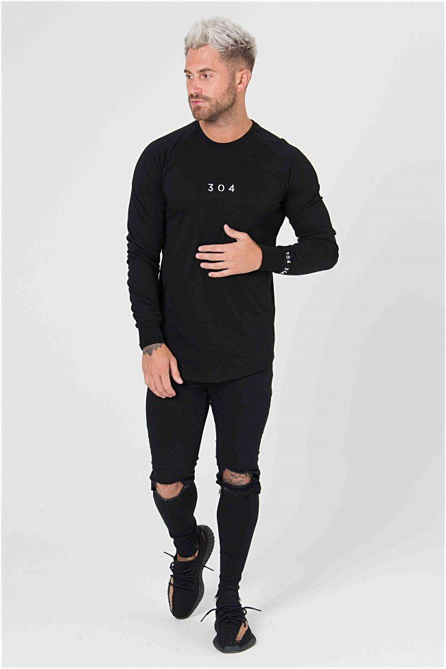 304 Clothing Venice Long Sleeve Tee - Black - 1