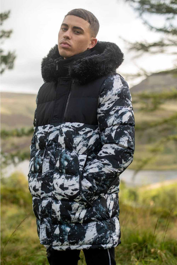 4BIDDEN Raid Mountain Bubble Parka - Black