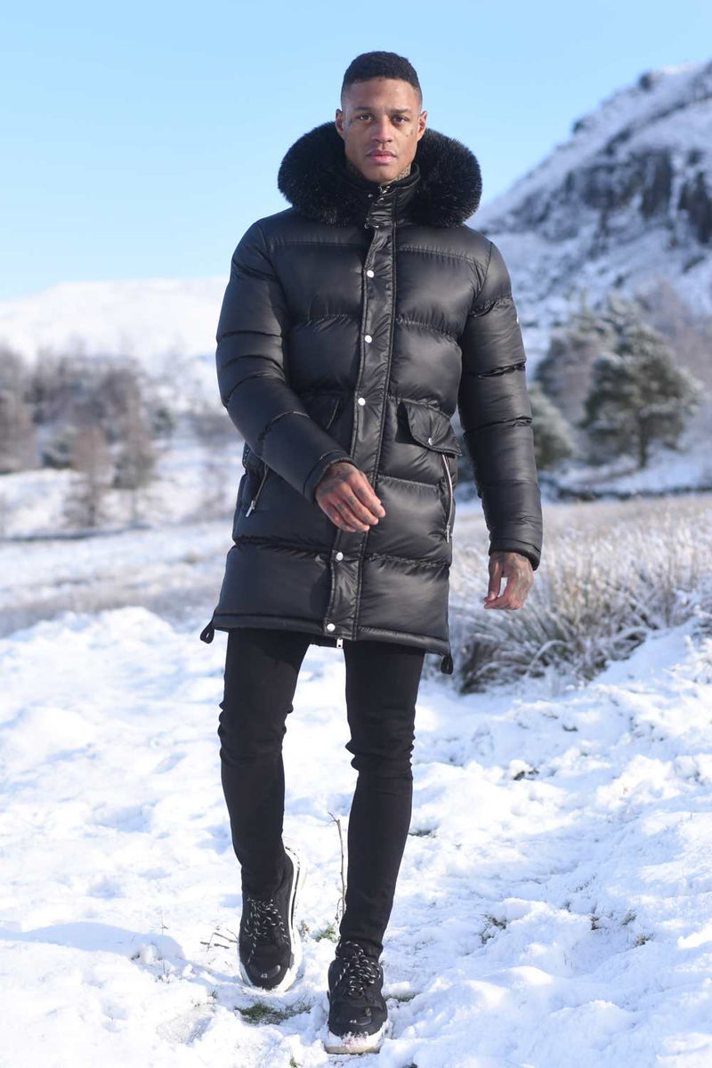 4Bidden Torrential Fur Hood Parka Jacket - Black - 3