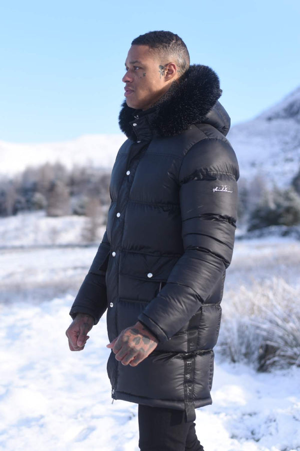 4Bidden Torrential Fur Hood Parka Jacket - Black - 1