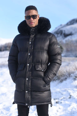 4Bidden Torrential Fur Hood Parka Jacket - Black