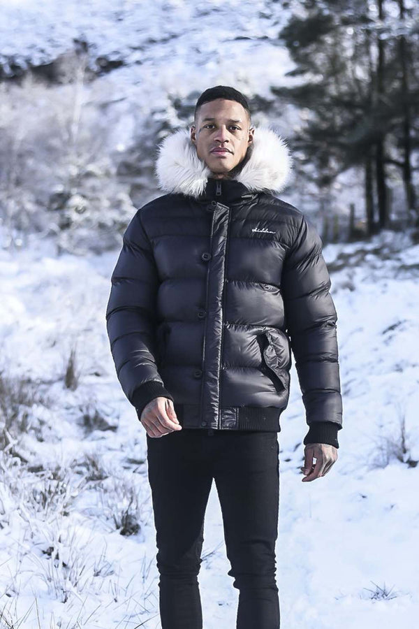 4BIDDEN Motion Puffer Jacket - Black