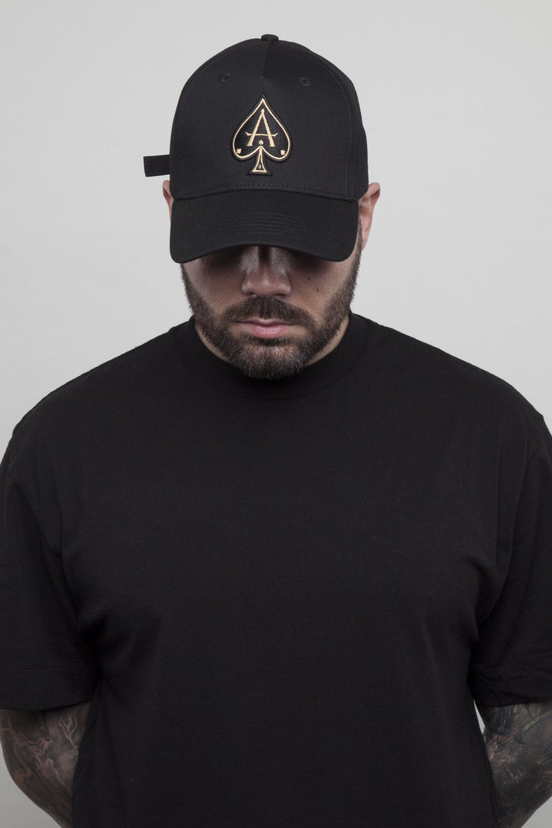 Ace Vestiti BaseBall Cap - Black/Gold