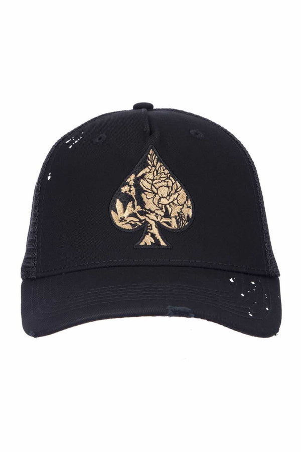 Ace Vestiti Golden Blossom Trucker - Black