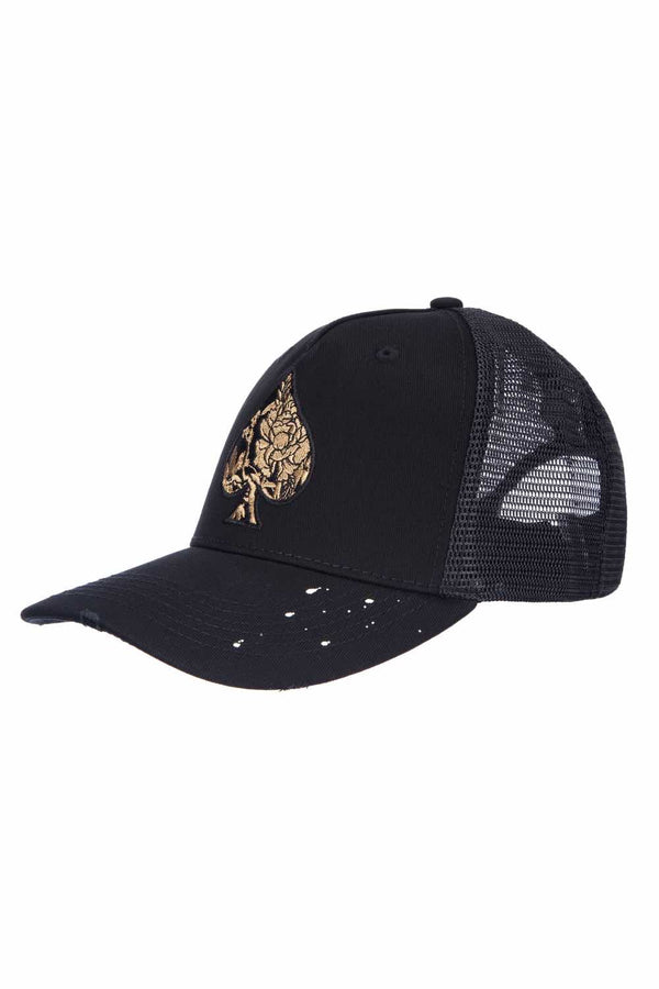 Ace Vestiti Golden Blossom Trucker - Black - 1