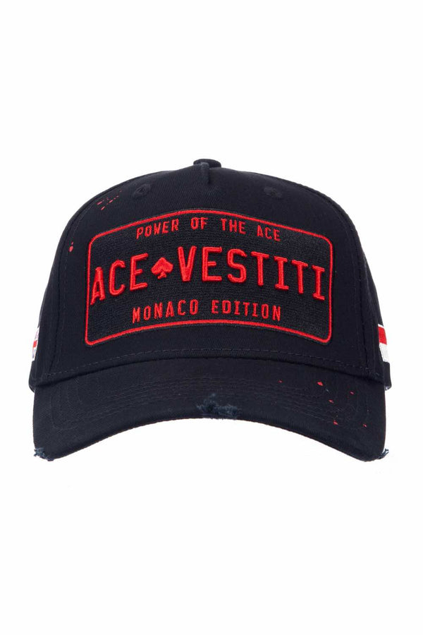 Ace Vestiti Distressed Paint Splat Plate Cap - Red/Black