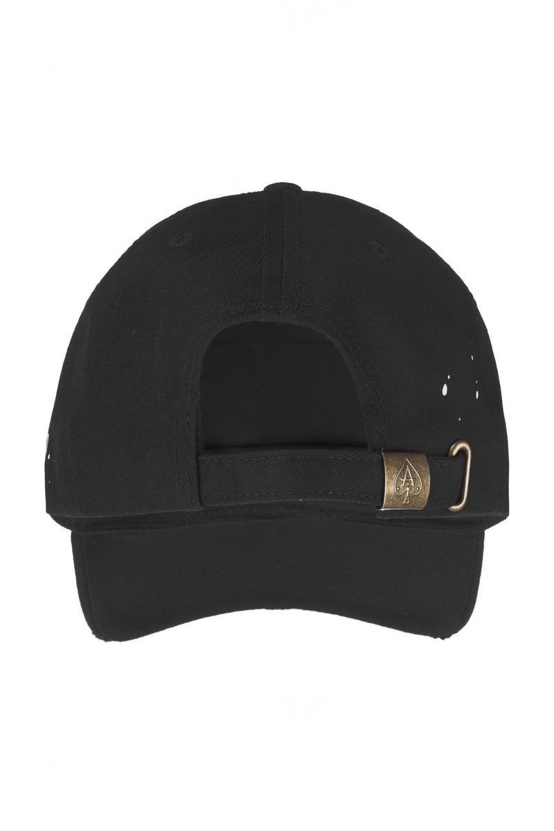 Ace Vestiti Distressed Paint Splatt Plate Cap - Black - 3