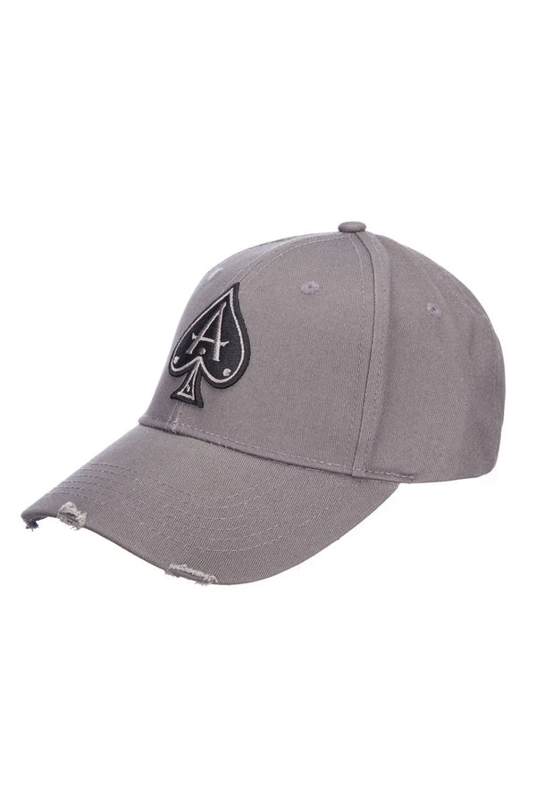 Ace Vestiti Distressed Peak Baseball Cap - Grey - 1