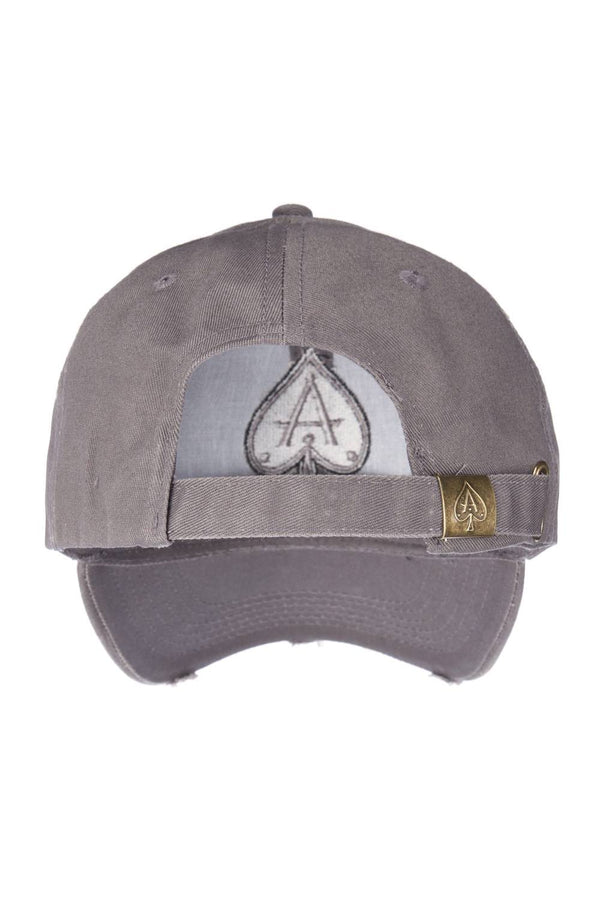 Ace Vestiti Distressed Peak Baseball Cap - Grey - 2