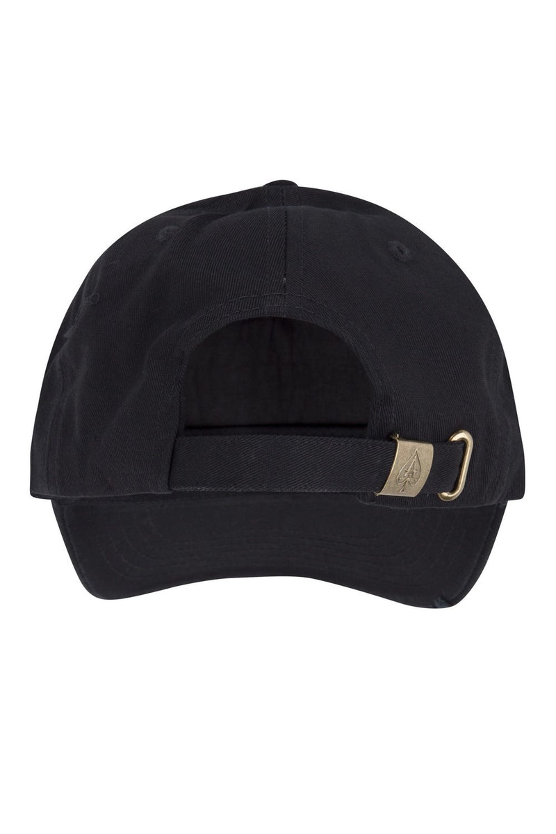 Ace Vestiti Distressed Plate Cap - Black/Gold - 2