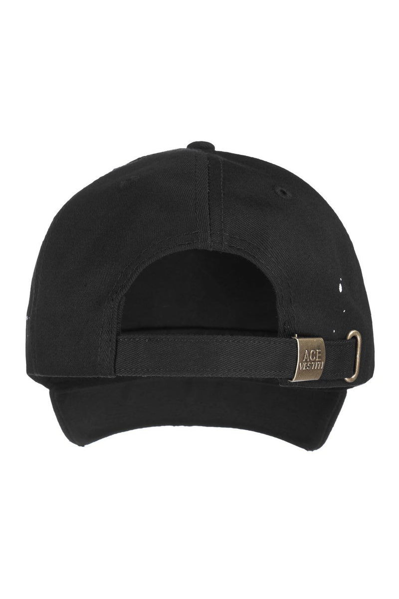 Ace Vestiti Distressed Spade BaseBall Cap - Black/Gold - 2