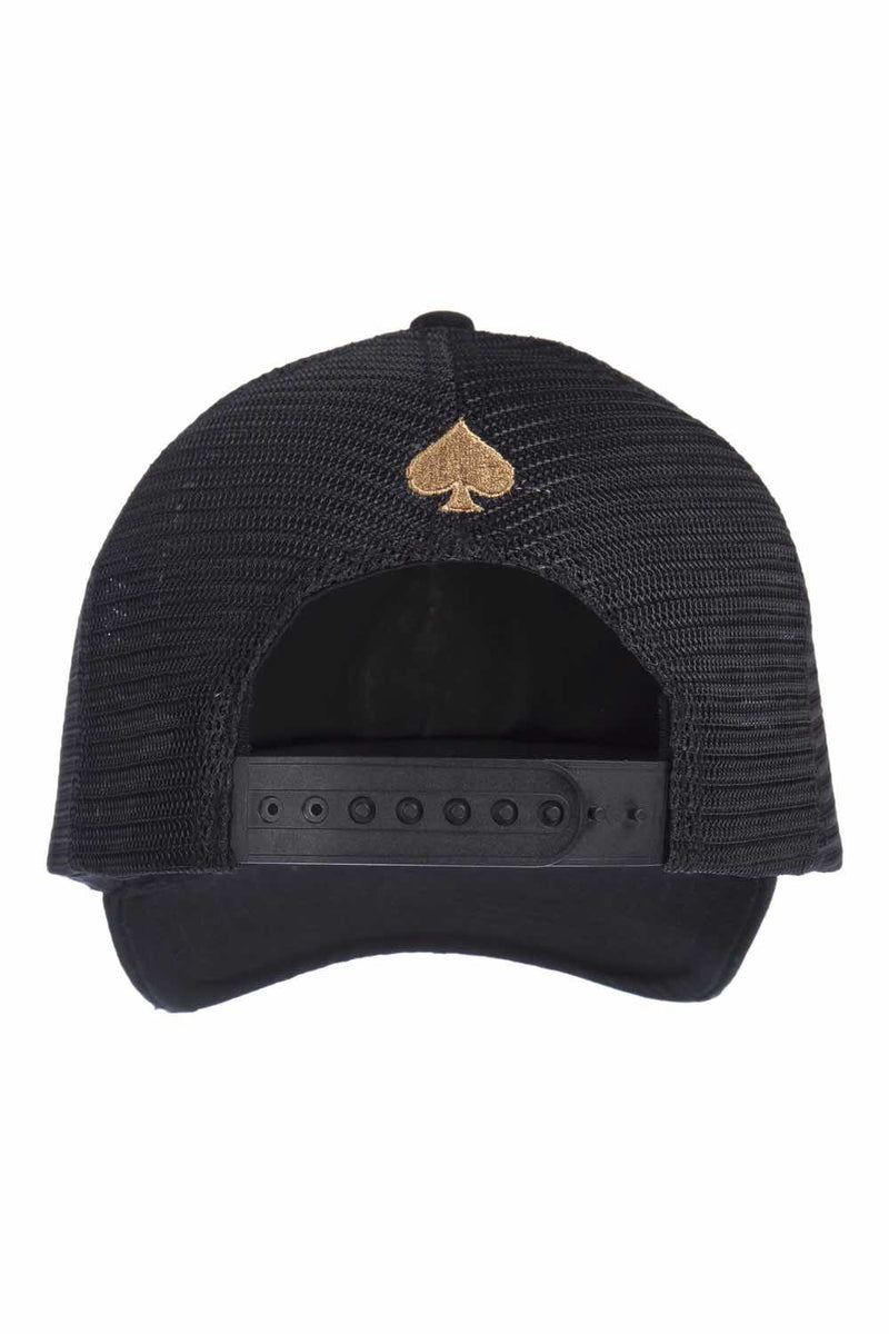 Ace Vestiti Rose Gold Spades Trucker - Black - 2