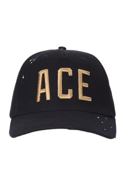 Ace Vestiti Lettering BaseBall Cap - Black