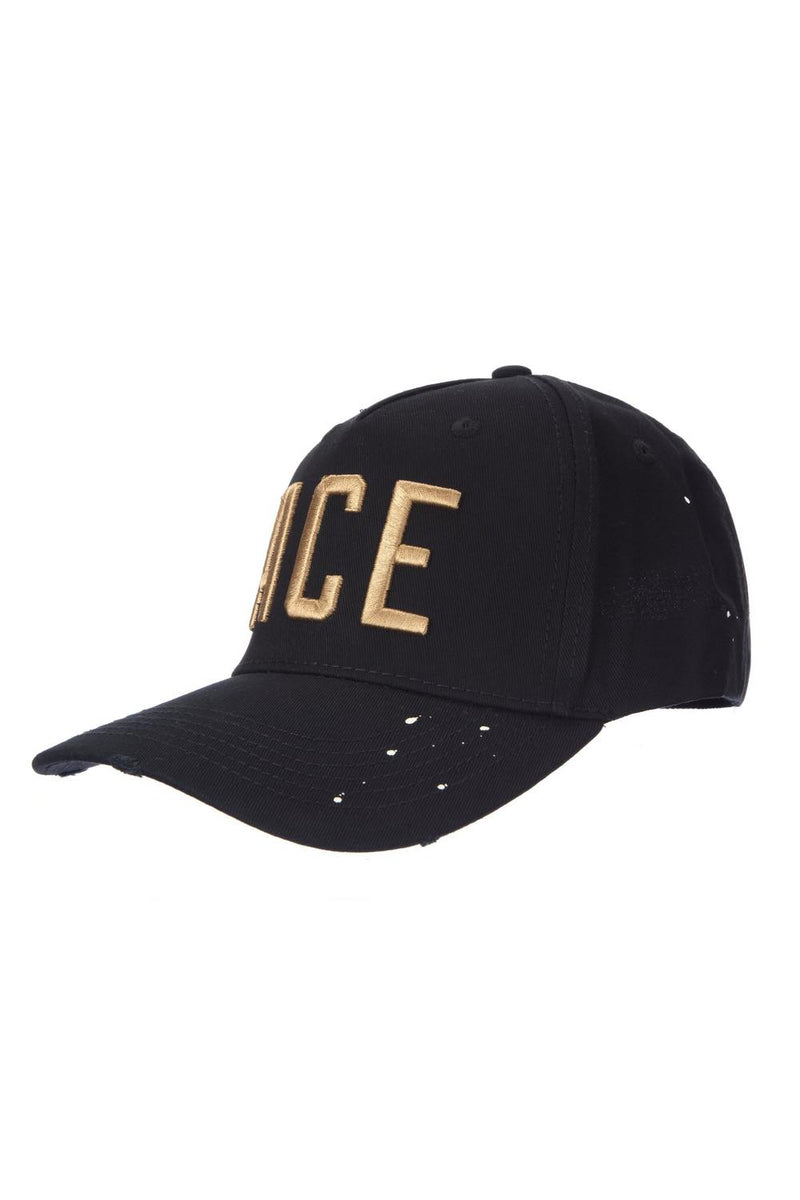 Ace Vestiti Lettering BaseBall Cap - Black - 2