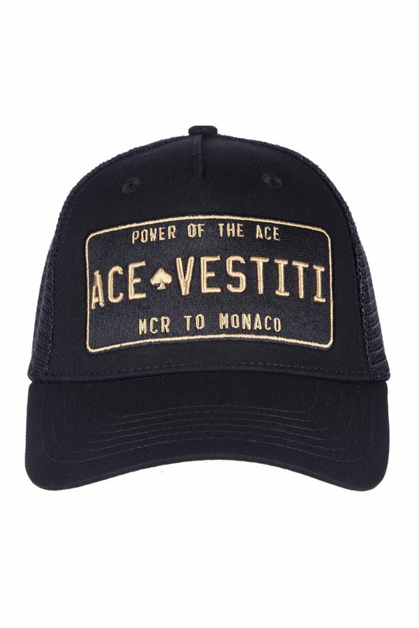 Ace Vestiti Plated Trucker Cap - Black/Gold