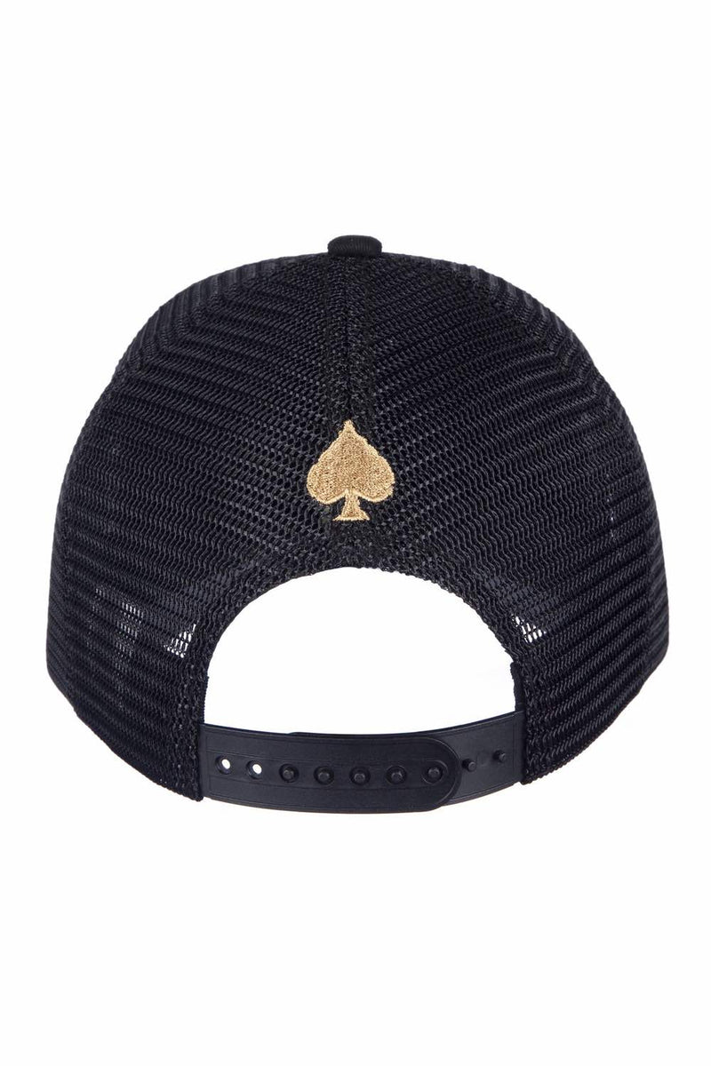 Ace Vestiti Plated Trucker Cap - Black/Gold - 3