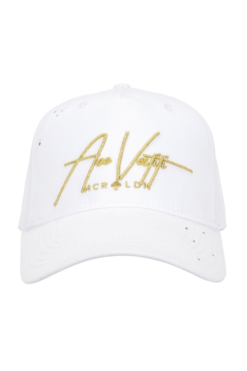 Ace Vestiti Signature BaseBall Cap - White/Gold - 1