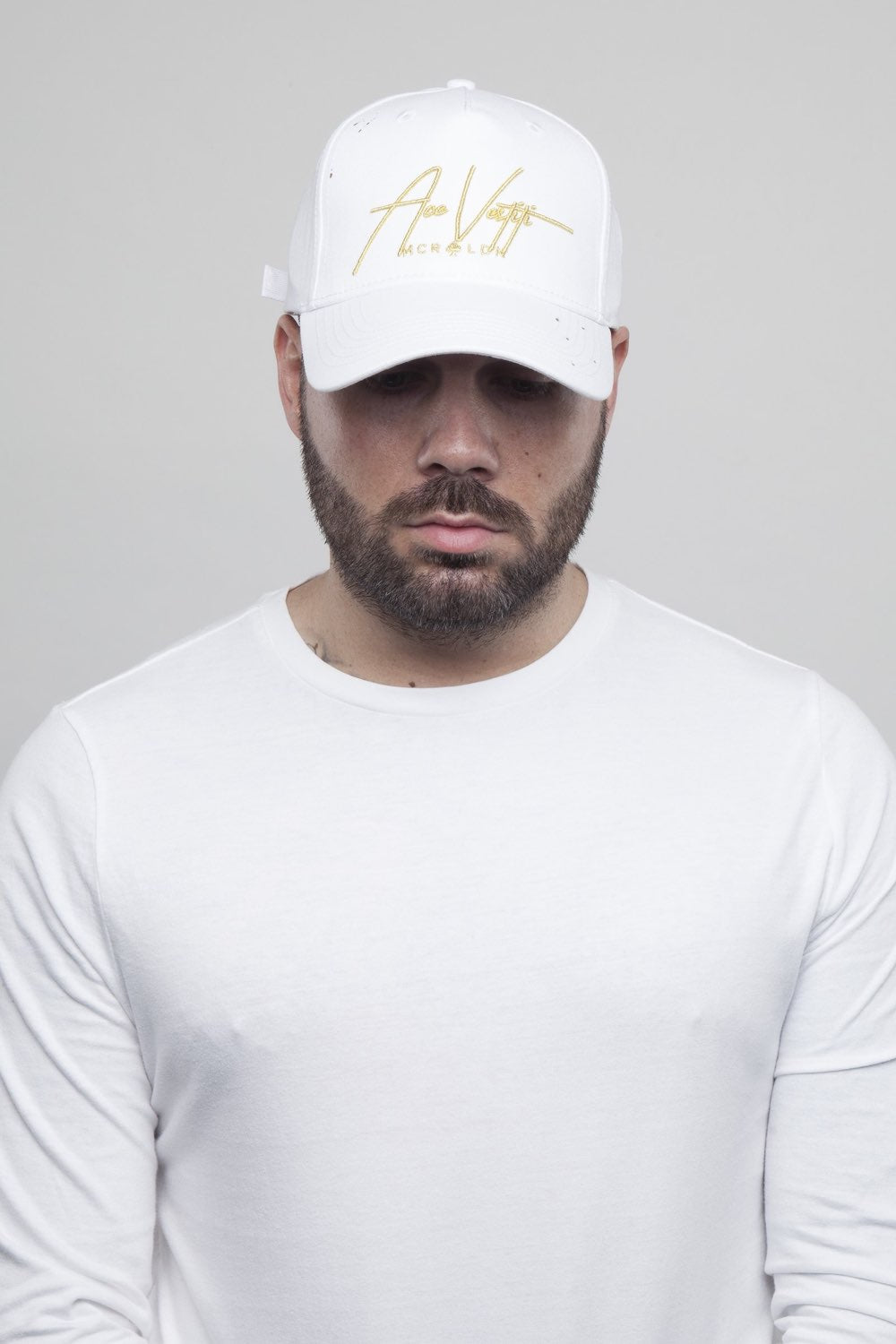 Ace Vestiti Signature BaseBall Cap - White/Gold