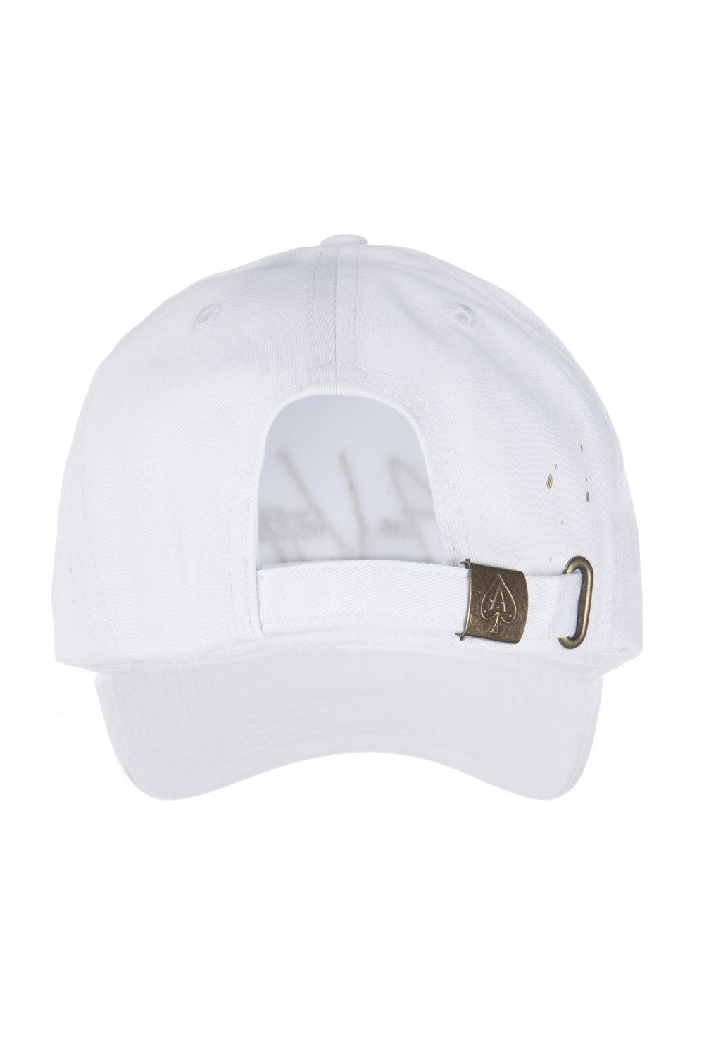 Ace Vestiti Signature BaseBall Cap - White/Gold - 3