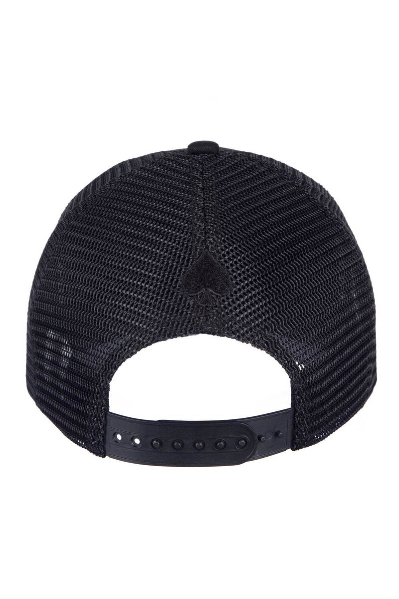 Ace Vestiti Signature Mesh Trucker Cap - All Black - 2