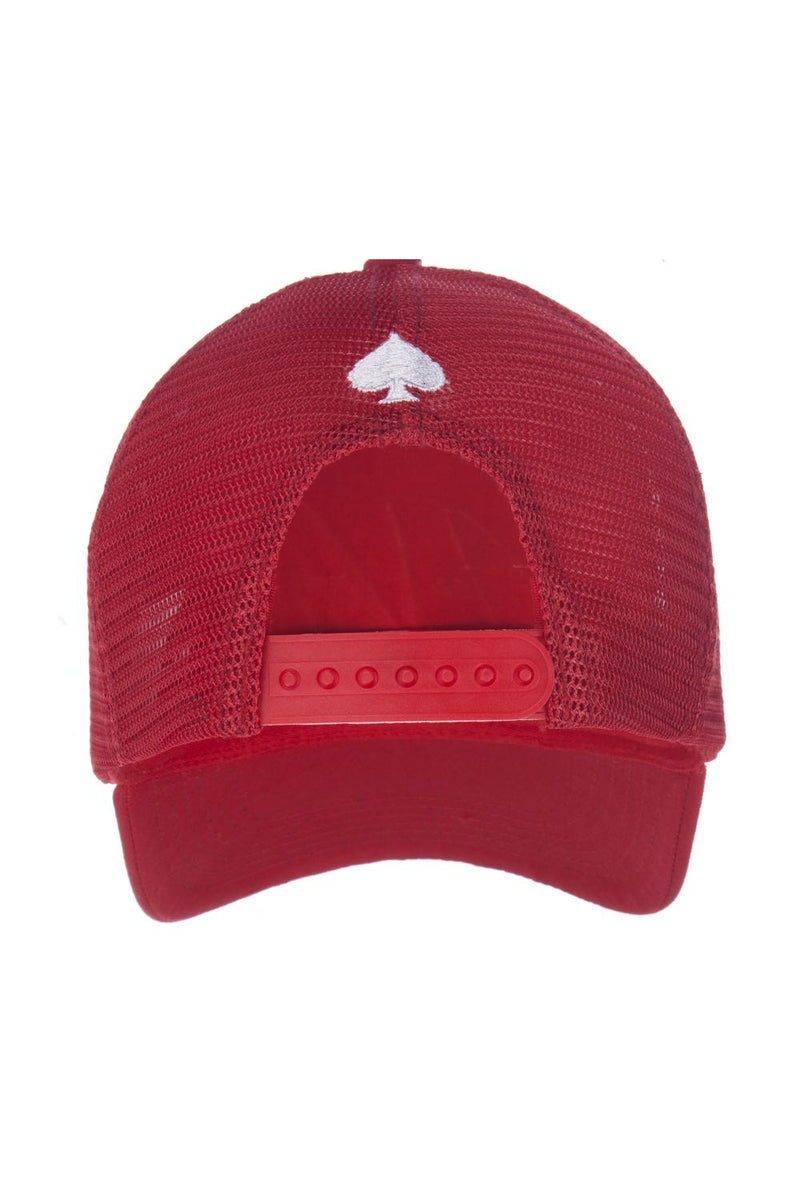 Ace Vestiti Signature Mesh Trucker Cap - Red - 3