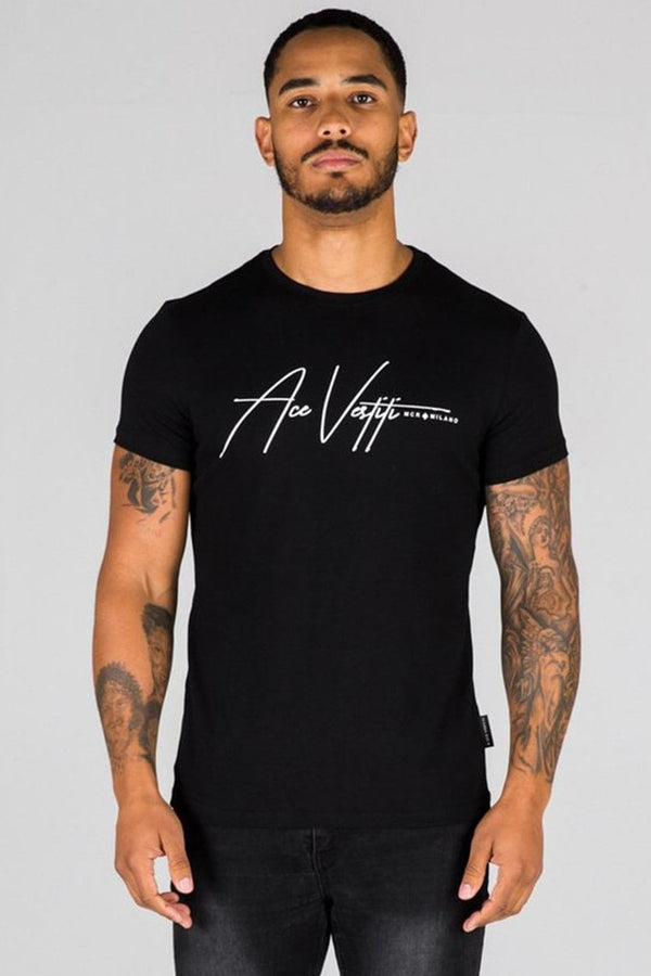 Ace Vestiti Signature T-Shirt - Black - 3