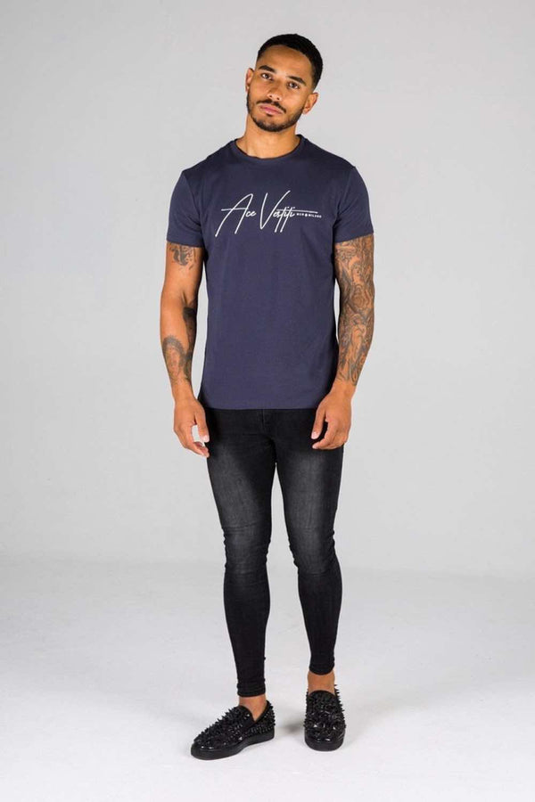 Ace Vestiti Signature T-Shirt - Navy - 3