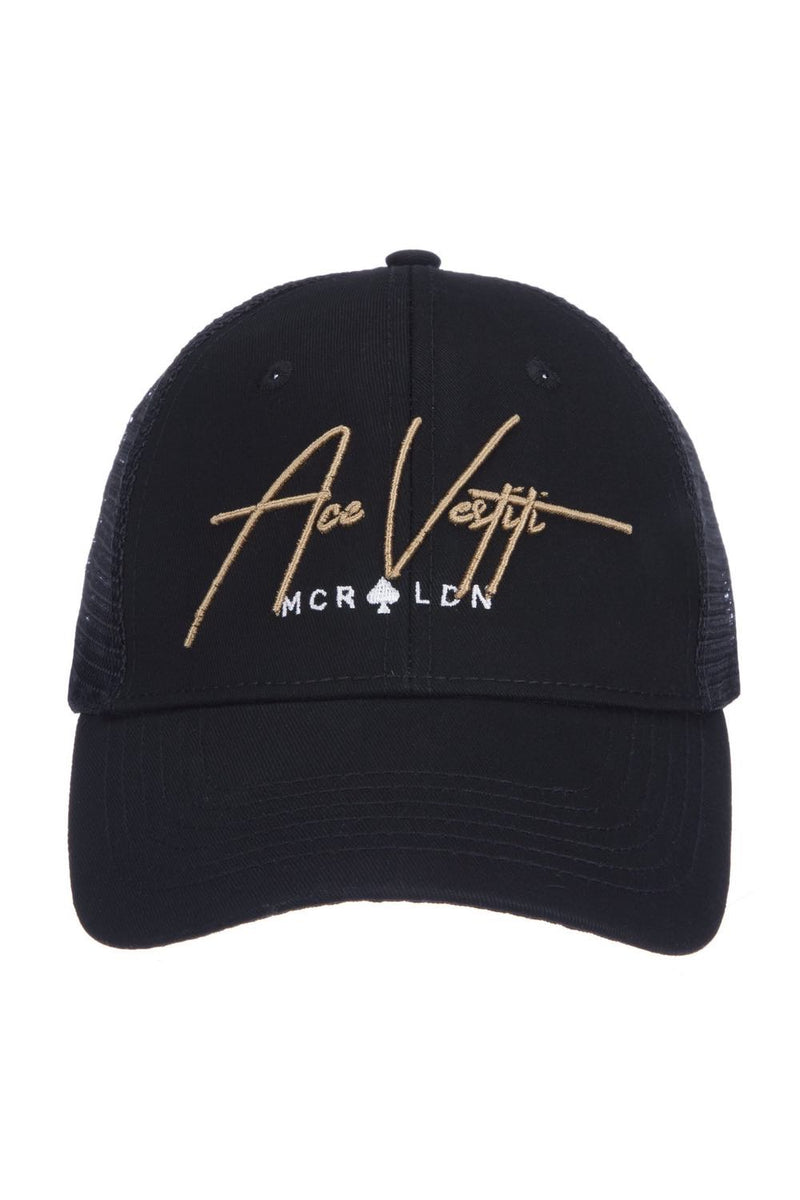 Ace Vestiti Signature Trucker Cap - Black/Gold - 1