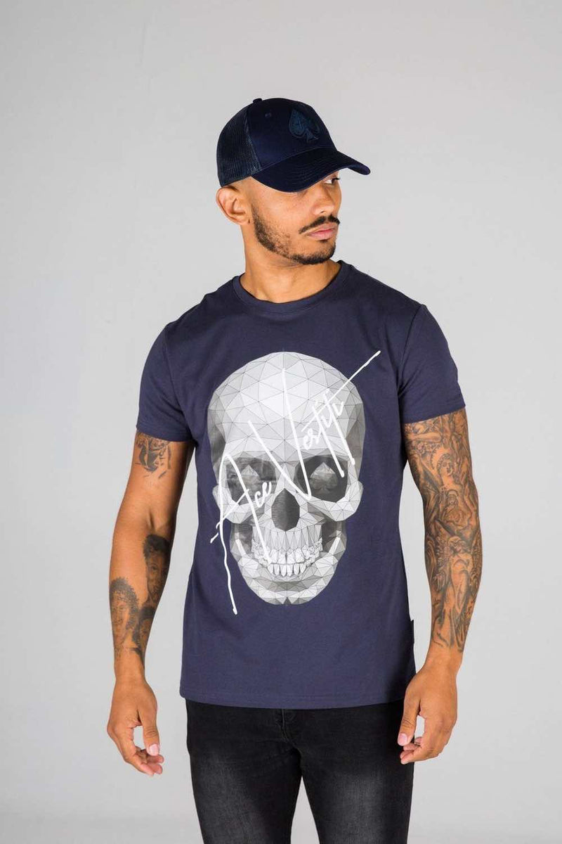 Ace Vestiti Skull Signature T-Shirt - Navy