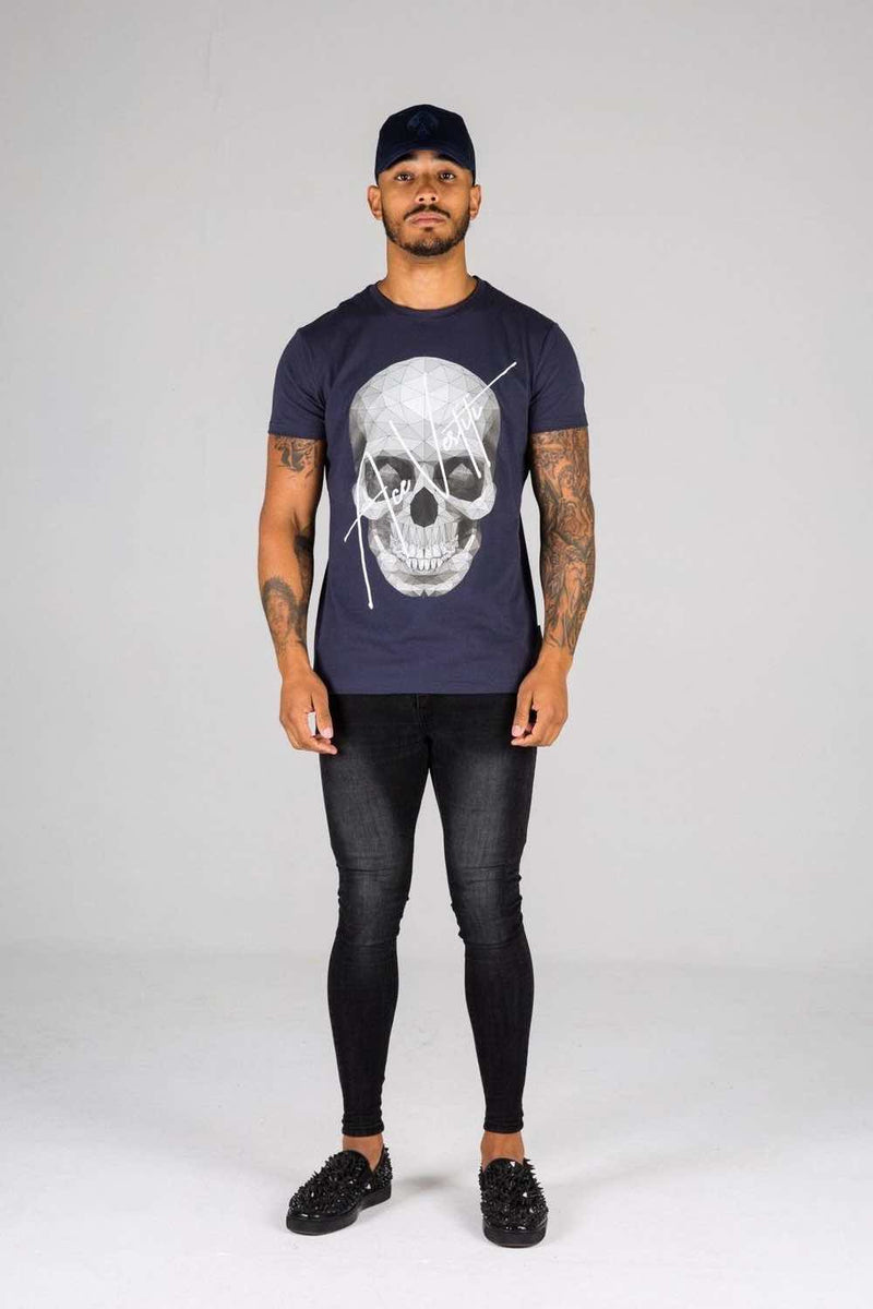 Ace Vestiti Skull Signature T-Shirt - Navy - 2
