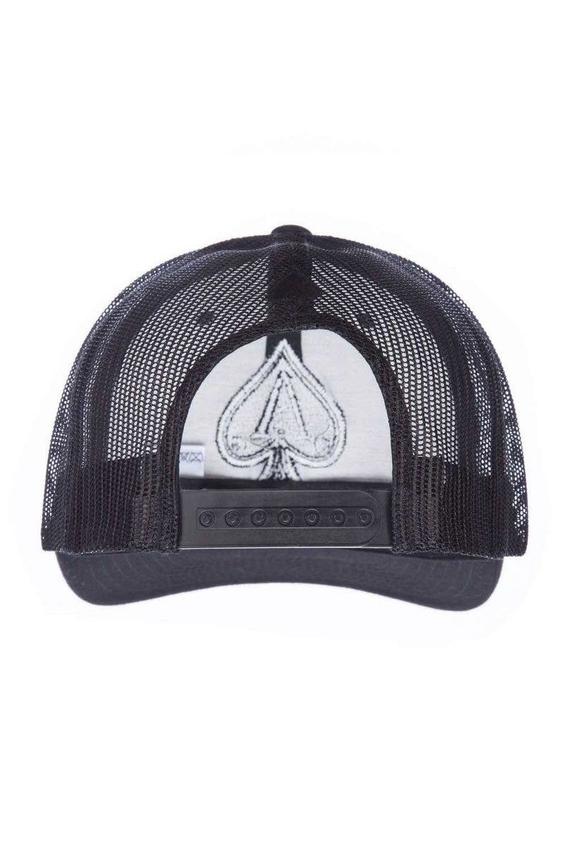 Ace Vestiti Distressed Trucker Cap - Black - 2