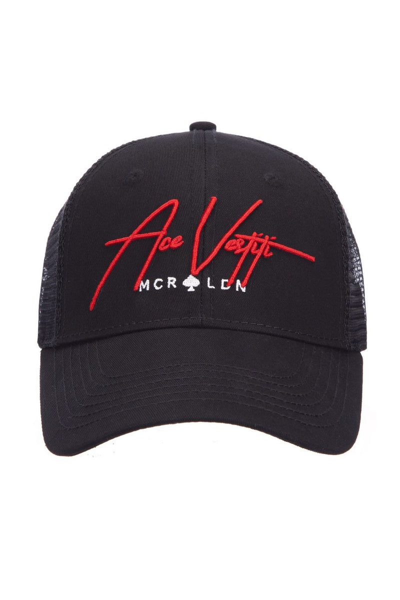 Ace Vestiti Signature Trucker Cap - Black/Red