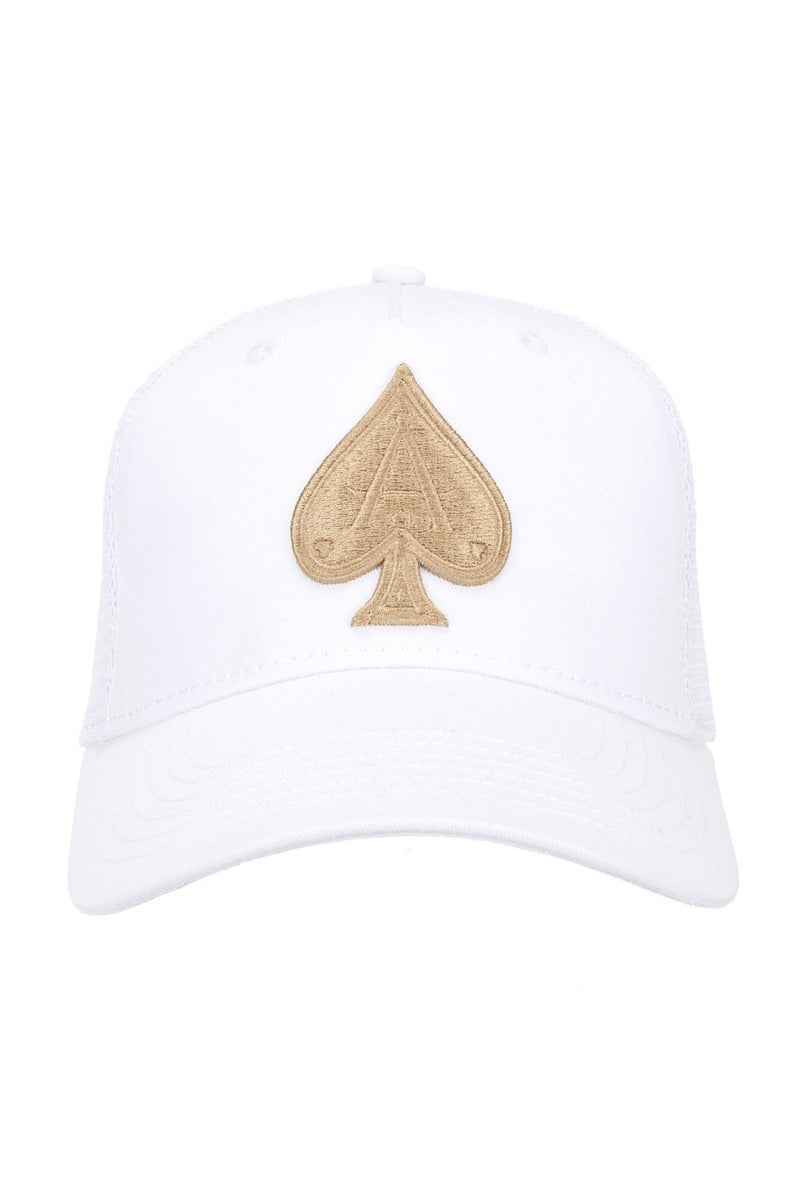 Ace Vestiti Mesh Trucker Cap - White/Gold - 2