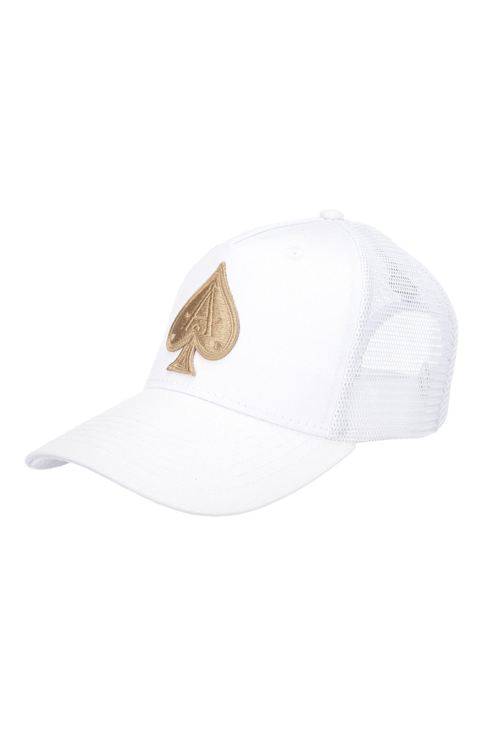 Ace Vestiti Mesh Trucker Cap - White/Gold - 1