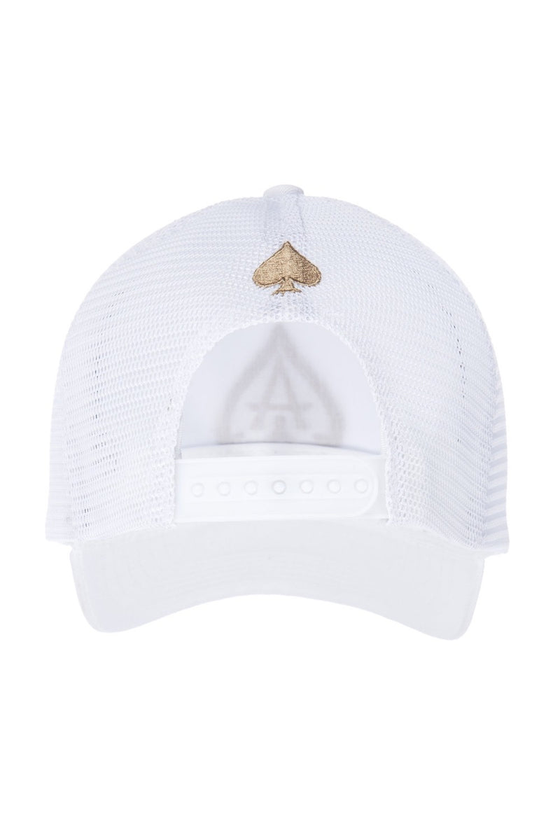 Ace Vestiti Mesh Trucker Cap - White/Gold - 3