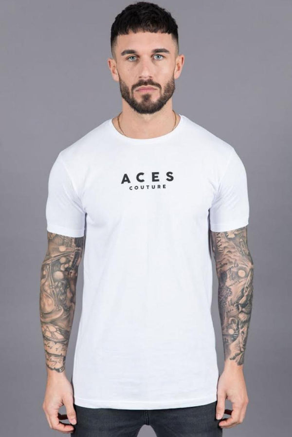 Aces Couture Logo T-Shirt - White