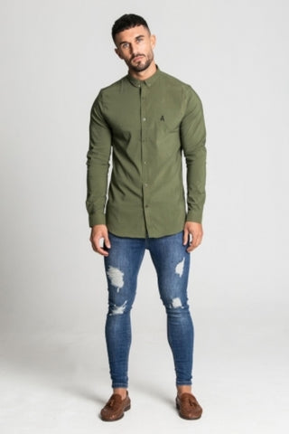 Aces Couture Long Sleeve Shirt - Khaki