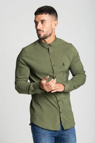 Aces Couture Long Sleeve Shirt - Khaki - 2
