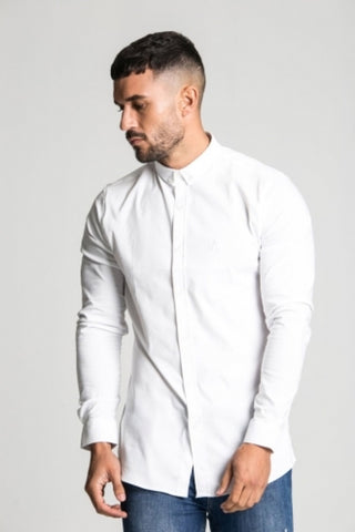 Aces Couture Long Sleeve Shirt - White