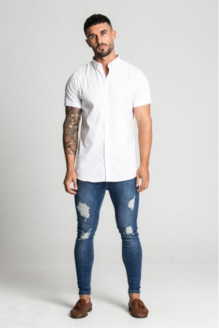 Aces Couture Short Sleeve Shirt - White