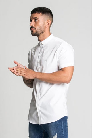 Aces Couture Short Sleeve Shirt - White - 1