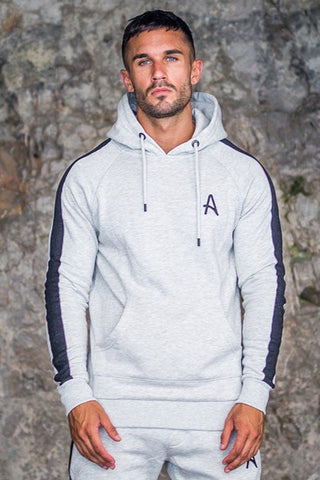 Aces Couture Pullover Hoody - Grey Marl