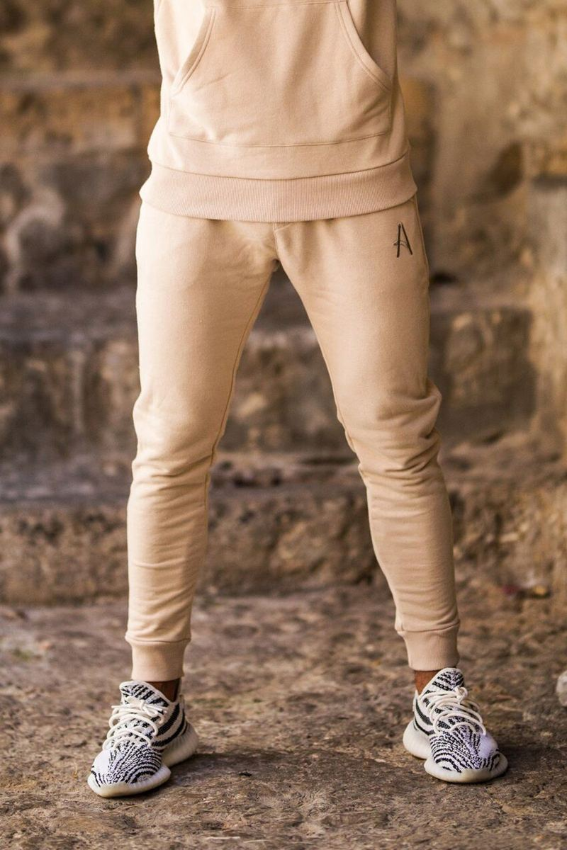 Aces Couture Slim Joggers - Stone - 2
